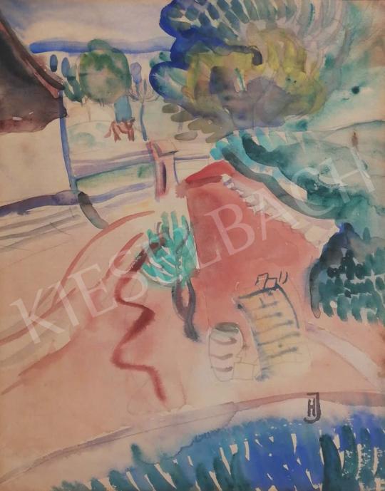Eladó Halápy János - Parkrészlet festménye