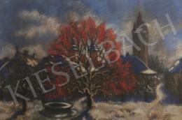 Husovszky János - Téli táj az István toronnyal