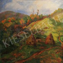Püspöki Kováts, Géza (P. Kováts Géza) - Sunlit Autumn Landscape, 1948
