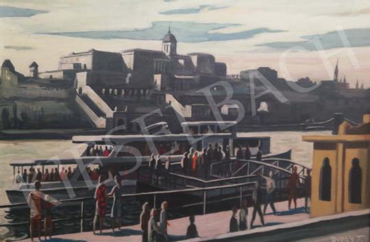 Eladó  Duray Tibor - Várhegy sétahajóval festménye