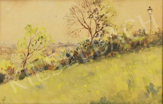Eladó Ismeretlen magyar festő - Tabáni látkép festménye