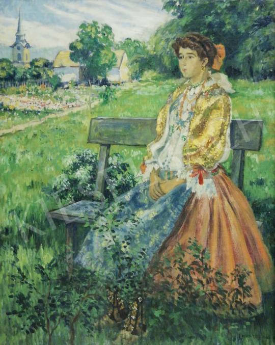 Eladó  Lakatos Artúr - Sokác lány népviseletben festménye