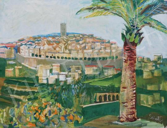 Szinte, Gábor - Sunlit Mediterranean Town painting