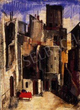Aba-Novák Vilmos - Itáliai városka (1928)