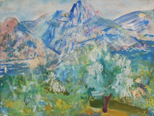 Szinte Gábor - Hegyvidéki látkép festménye