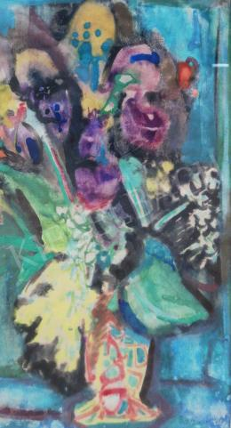 Bartha, László - Flower Still-Life with Colorful Flowers