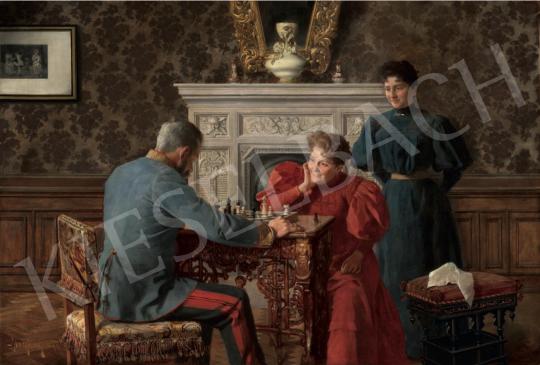 Margitay Tihamér - A vesztett játszma (Sakk-matt), 1895 festménye