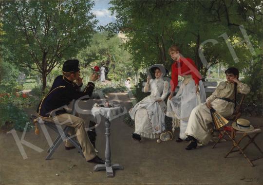 Skuteczky Döme - Modern Páris, 1891 festménye