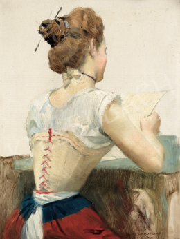 Karlovszky, Bertalan - Reading Girl, c. 1900