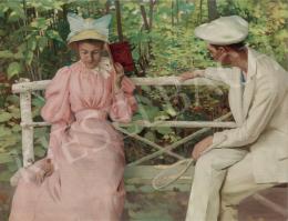 Vaszary, János - Courtship, c.1895