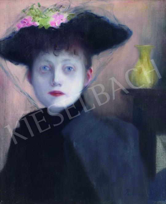 Rippl-Rónai József - Párizsi nő, 1891 festménye