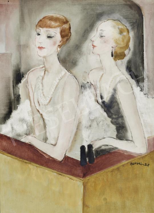 Rauscher György - Páholyban, 1928 festménye