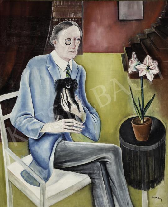 Rauscher György - Szomory Dezső portréja, 1927 festménye
