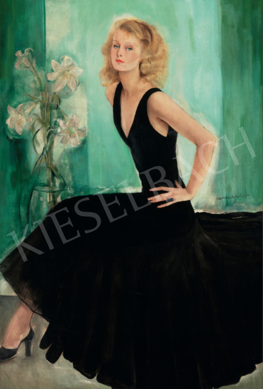 Rauscher György - Lilian Harvey portréja, 1929 festménye
