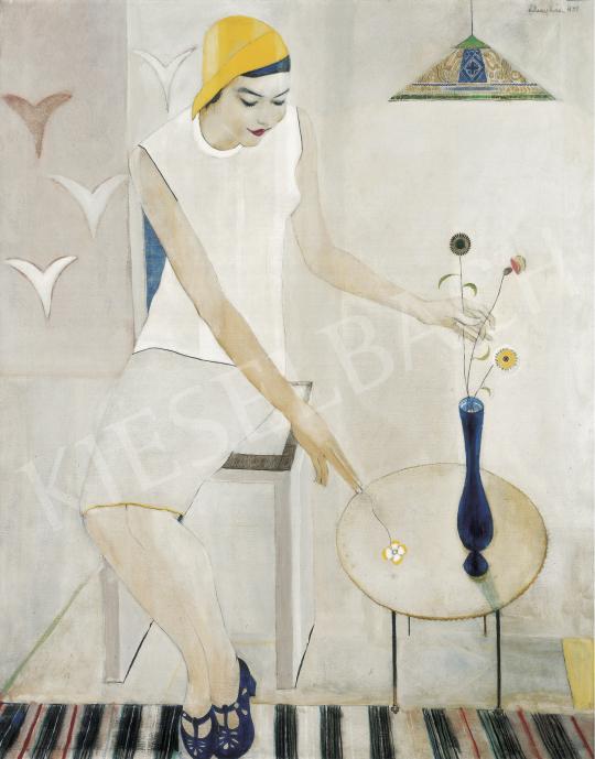 Félegyházi László - Ülő nő, 1931 festménye