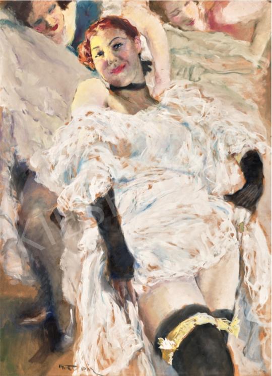 Fried Pál - Kán-kán, 1930-as évek festménye