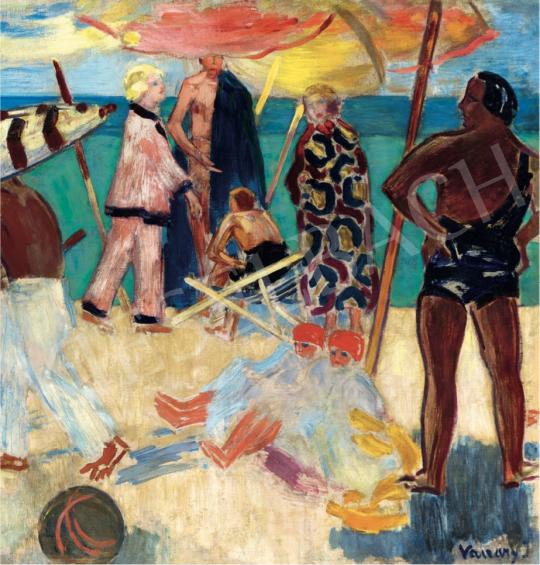 Vaszary János - Strandon, 1928 körül festménye