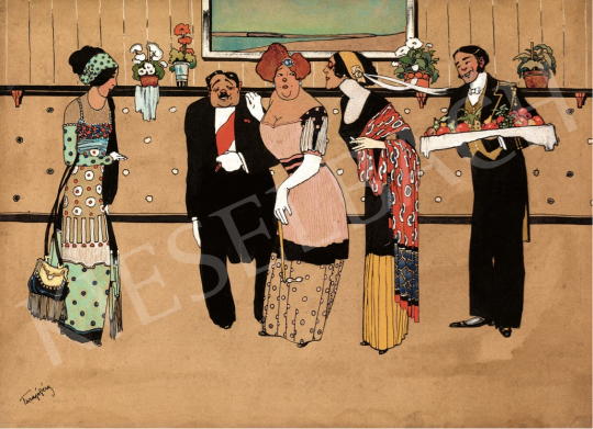 Faragó, Géza - The Reception, 1910s painting