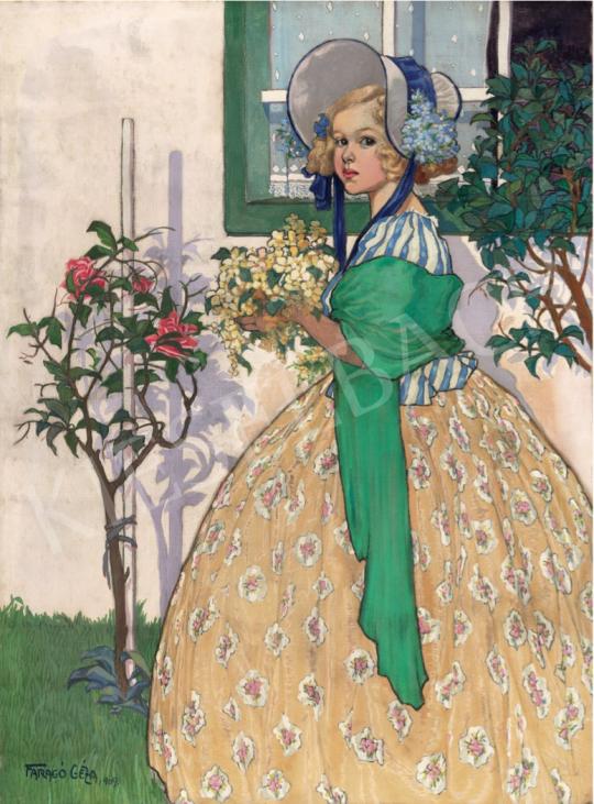 Faragó Géza - Beöthy Szidónia (Baba), 1909 festménye