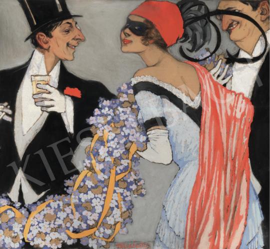 Faragó Géza - Álarcosbál, 1913 festménye