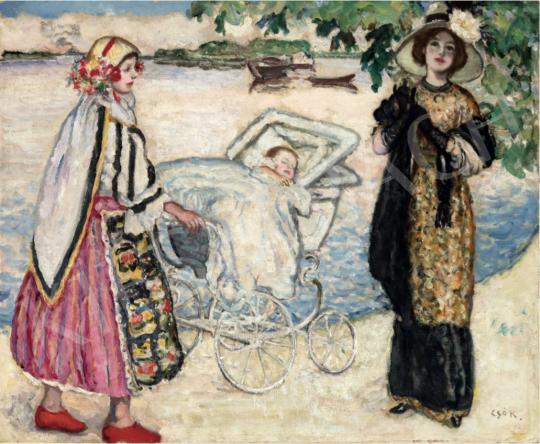 Csók István - Züzü első sétája, 1910 festménye