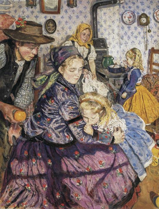 Perlmutter Izsák - Család, 1910 festménye