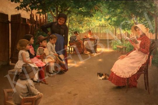 Skuteczky Döme - Érdekes mese, 1888 festménye