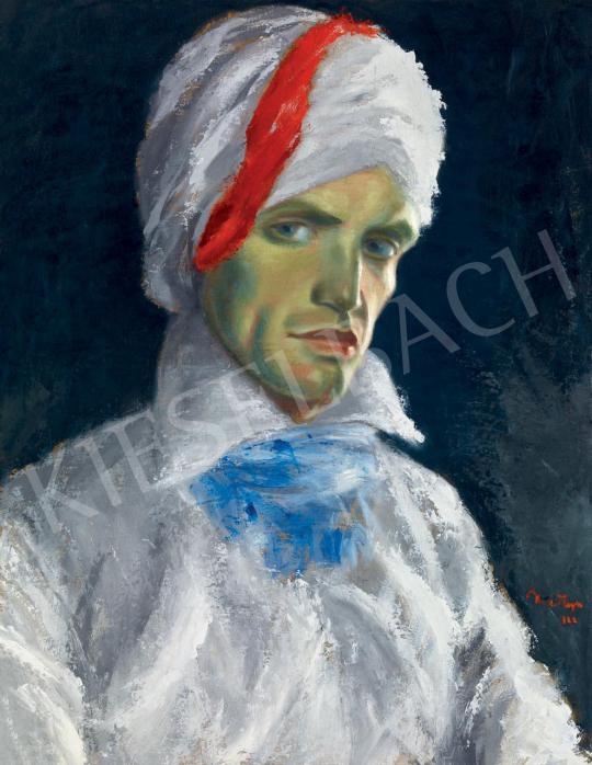 Martyn Ferenc - Turbános önarckép, 1922 festménye