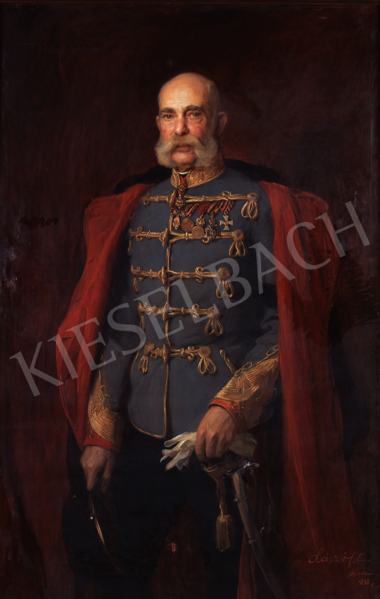 László Fülöp - I. Ferenc József arcképe, 1899 festménye