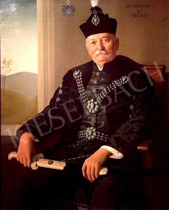 Kontuly Béla - Rényi Dezső alpolgármester arcképe, 1933-34 festménye