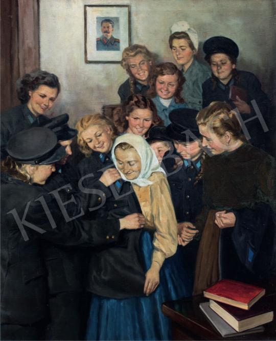 Kiss Ernő - Rendőr leszek! (Az új növendék), 1950 körül festménye