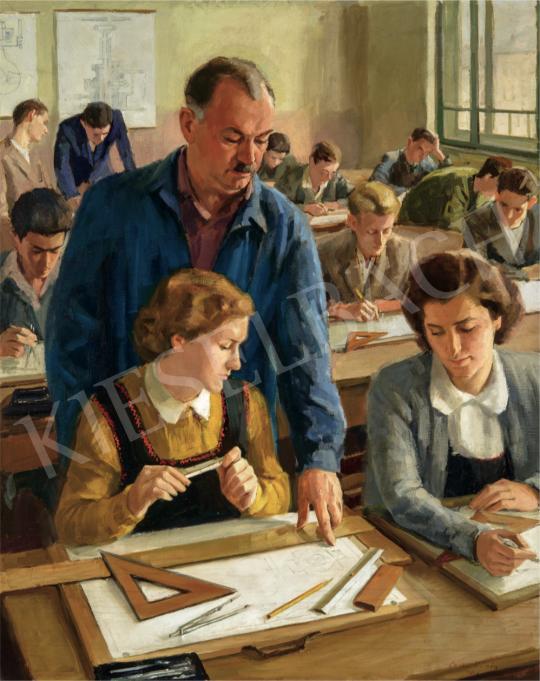 Csabai Kálmán - Szakrajzóra, 1953 festménye