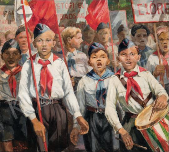 Rozs János - Úttörők, 1950 festménye
