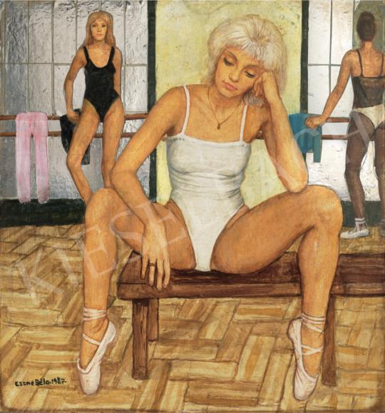 Czene Béla - Spicc (Szőke balerina), 1987 festménye