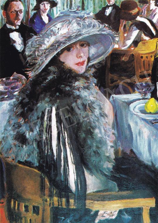 Perlmutter Izsák - Bárban, 1926 festménye