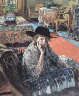 Perlmutter, Izsák - Cleo in the Salon, 1916