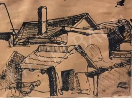 Gruber Béla - Tanyavilág festménye