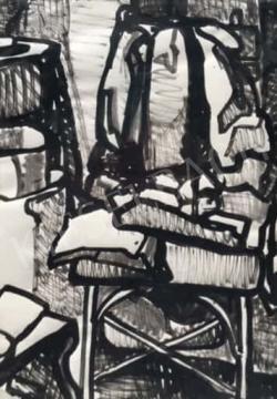 Gruber Béla - Szobabelső, 1963 (Műteremsarok) festménye