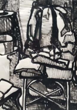 Gruber Béla - Szobabelső, 1963 (Műteremsarok)