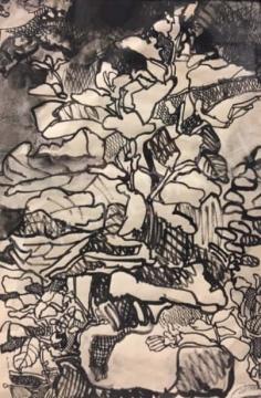 Gruber Béla - Virágok a szantóriumban, 1963 festménye