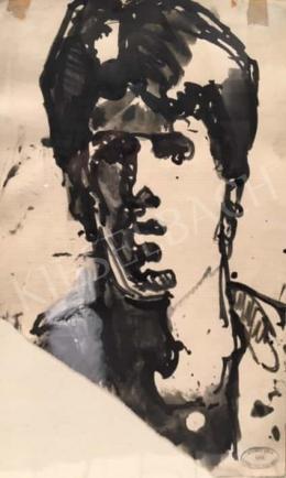 Gruber Béla - Önarckép, 1960
