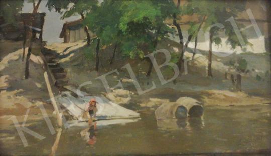 Edvi Illés Aladár - Folyóparton festménye