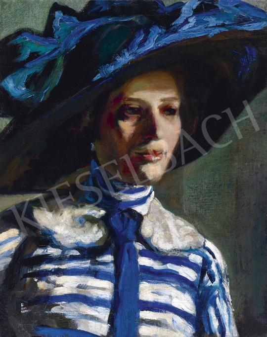 Ismeretlen magyar festő, 1910-es évek - A kék kalap | 60. Téli Aukció aukció / 1 tétel