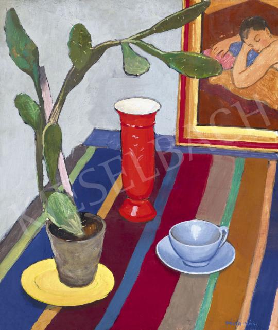 Pólya Iván - Art deco csendélet, 1930 körül | 60. Téli Aukció aukció / 4 tétel
