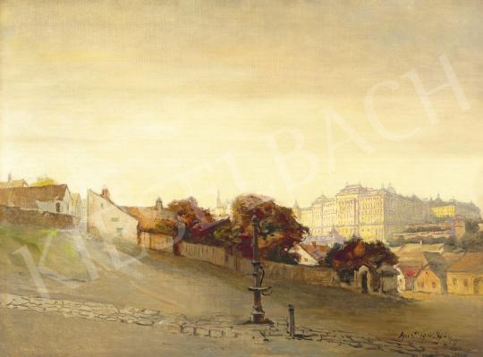 Háry Gyula - A Budai vár a Tabánból, 1910 | 60. Téli Aukció aukció / 7 tétel