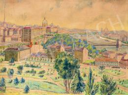 Lakatos Artúr - Budapest látképe a Gellérthegyről, 1941