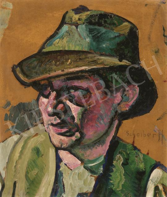 Scheiber Hugó - Kalapos fiú, 1910-es évek vége | 60. Téli Aukció aukció / 14 tétel