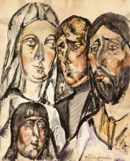 Perlrott Csaba Vilmos - Expresszív arcok, 1922