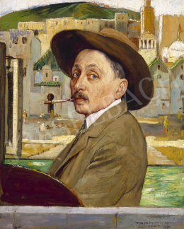 Tornai, Gyula - Journey (Self-Portrait with Hat), 1907