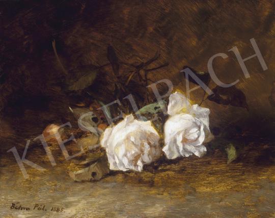 Böhm Pál - Fehér rózsák, 1885 | 60. Téli Aukció aukció / 18 tétel